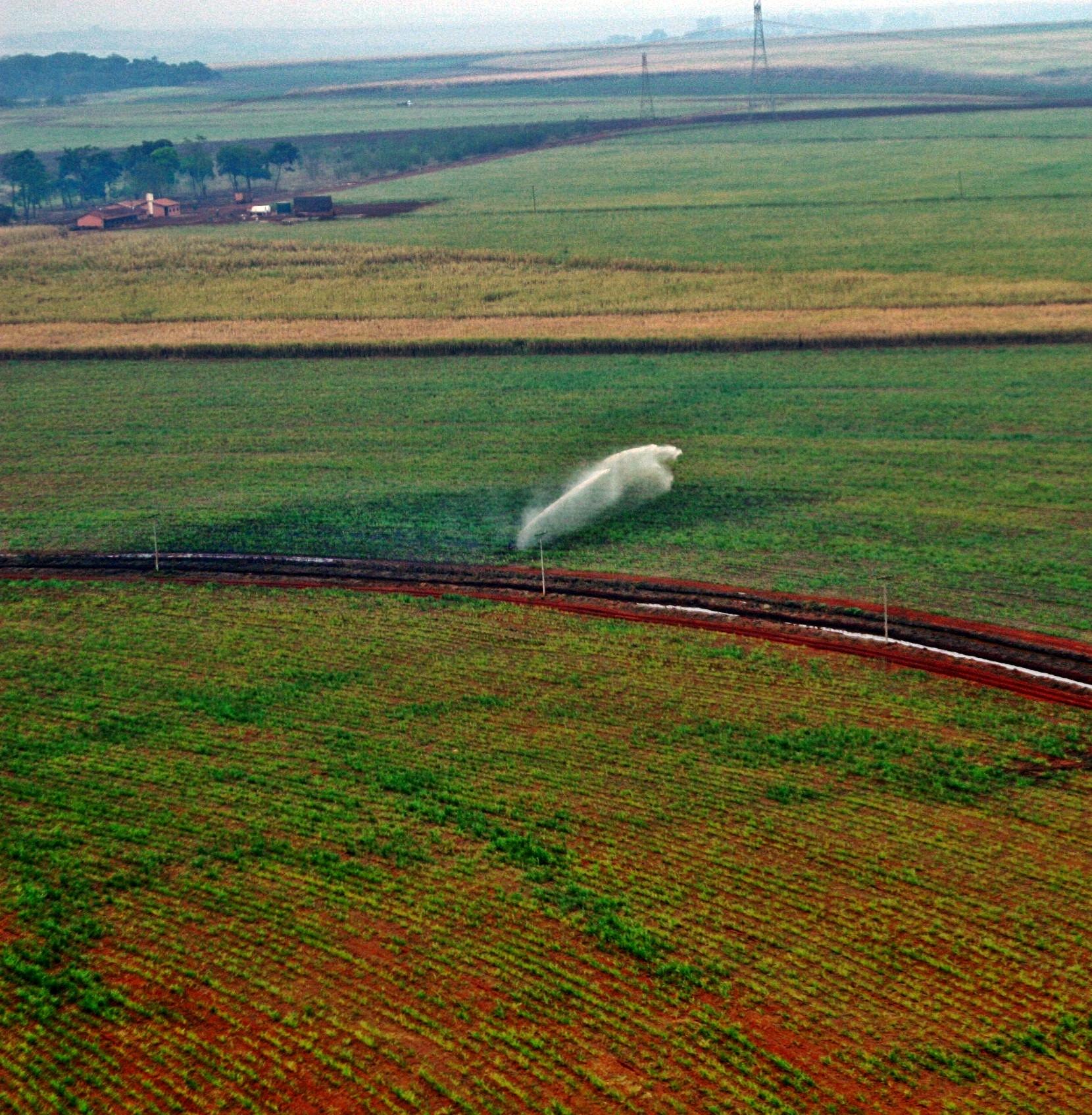 irrigação cana-de-açucar